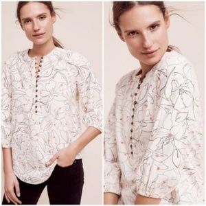 Maeve Anthropologie Bethesda Flannel Top